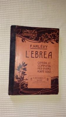 L' Ebrea di F. Havely, spartito musicale del 1900
